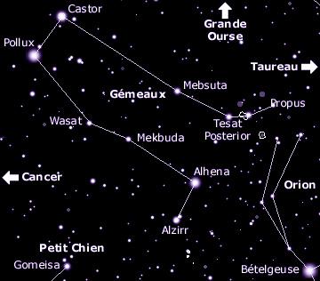 Top Au Clair Stellaire - Principales Constellations - Gémeaux LU31