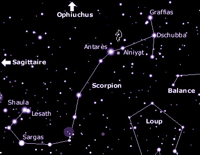 constellation du scorpion